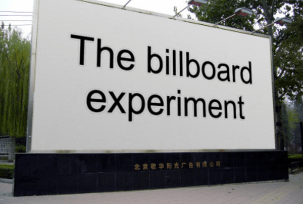 billboard experiment compliance without pressure